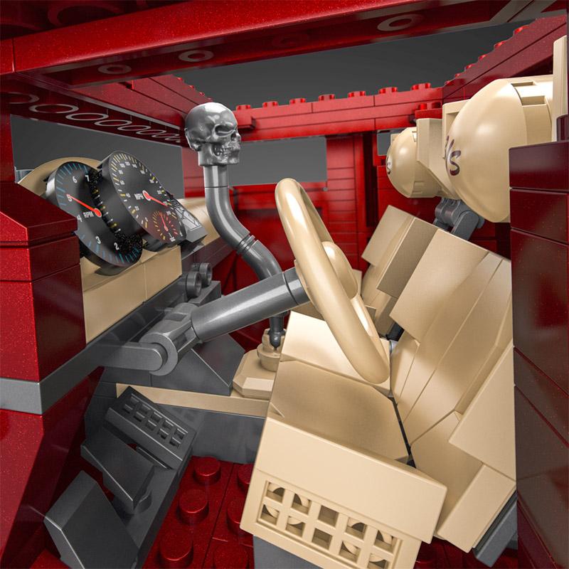 Hot Wheels y MEGA Bone Shaker interior