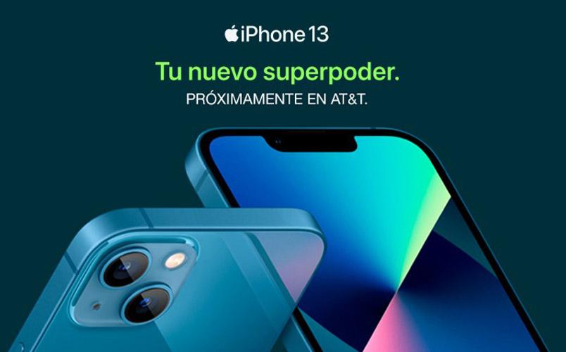 Los iPhone 13 mini, iPhone 13, iPhone 13 Pro y iPhone 13 Pro Max ATT MExico