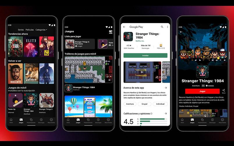 Los juegos llegan a Netflix, primero en Android y en estos países