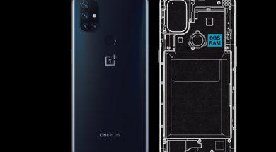 OnePlus Nord N10 5G diseno