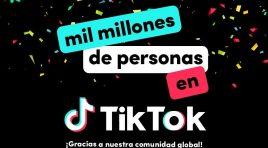 TikTok celebra más de mil millones de personas en todo el mundo