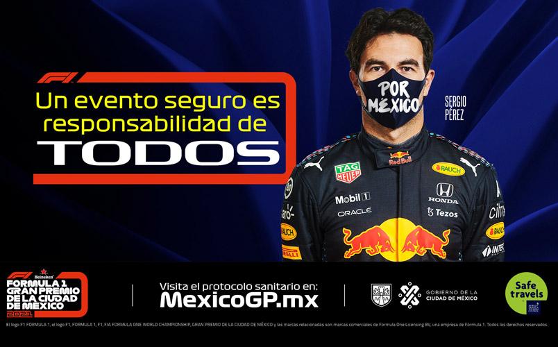 El protocolo sanitario para disfrutar del Gran Premio de México 2021