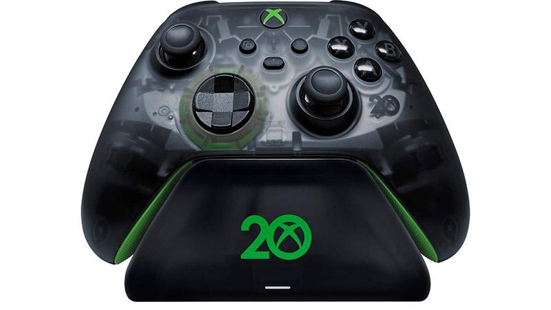 Control inalámbrico Xbox Edicion especial del 20 aniversario stand