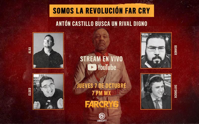 Los mejores creadores de contenido darán la bienvenida a Far Cry 6