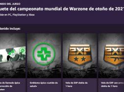 Paquete del campeonato mundial de Warzone de otoño de 2021 Prime gaming